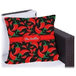 Chili Peppers Outdoor Pillow (Personalized)