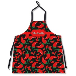 Chili Peppers Apron Without Pockets w/ Name or Text