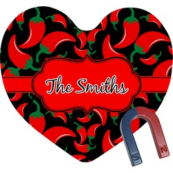 Chili Peppers Heart Fridge Magnet (Personalized)
