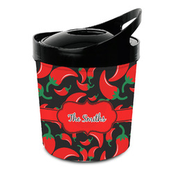 Chili Peppers Plastic Ice Bucket (Personalized)