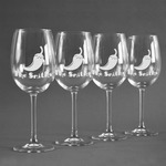 Chili Peppers Wine Glasses (Set of 4) (Personalized)