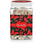 Chili Peppers Dog Treat Jar (Personalized)