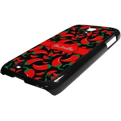 Chili Peppers Plastic Samsung Galaxy 4 Phone Case (Personalized)