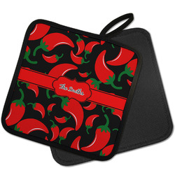 Chili Peppers Pot Holder w/ Name or Text