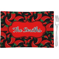 Chili Peppers Glass Rectangular Appetizer / Dessert Plate (Personalized)