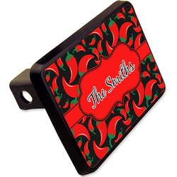 "Chili Peppers Rectangular Trailer Hitch Cover - 2"" (Personalized)"