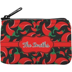 Chili Peppers Rectangular Coin Purse (Personalized)