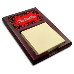 Chili Peppers Red Mahogany Sticky Note Holder (Personalized)