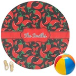 Chili Peppers Round Beach Towel (Personalized)