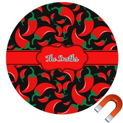 Chili Peppers Car Magnet (Personalized)