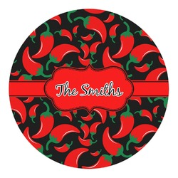 Chili Peppers Round Decal - Custom Size (Personalized)