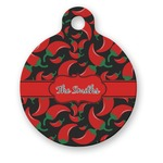 Chili Peppers Round Pet Tag (Personalized)