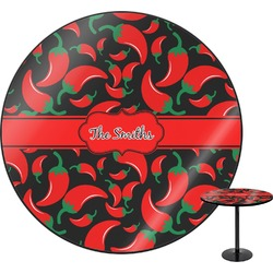 "Chili Peppers Round Table - 30"" (Personalized)"
