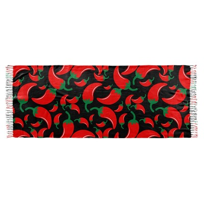 Chili Peppers Faux Pashmina Scarf (Personalized)
