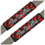 Chili Peppers Seat Belt Covers (Set of 2) (Personalized)