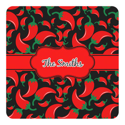 Chili Peppers Square Decal - Large (Personalized)