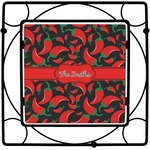 Chili Peppers Square Trivet (Personalized)