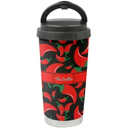 Chili Peppers Stainless Steel Coffee Tumbler (Personalized)