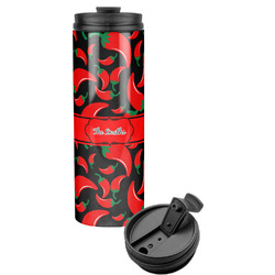 Chili Peppers Stainless Steel Travel Tumbler (Personalized)