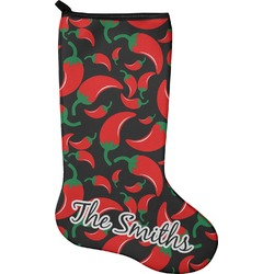 Chili Peppers Holiday Stocking - Neoprene (Personalized)