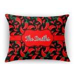 Chili Peppers Rectangular Throw Pillow Case (Personalized)