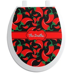 Chili Peppers Toilet Seat Decal (Personalized)
