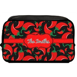 Chili Peppers Toiletry Bag / Dopp Kit (Personalized)