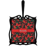 Chili Peppers Trivet with Handle (Personalized)