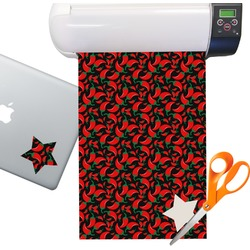 Chili Peppers Sticker Vinyl Sheet (Permanent)