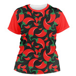 Chili Peppers Women's Crew T-Shirt (Personalized)