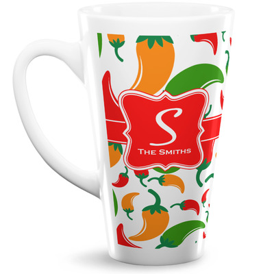 Colored Peppers 16 Oz Latte Mug (Personalized)