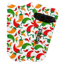 Colored Peppers Adult Ankle Socks (Personalized)