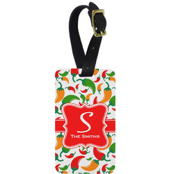 Colored Peppers Aluminum Luggage Tag (Personalized)