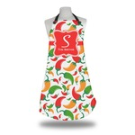 Colored Peppers Apron w/ Name and Initial