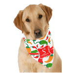 Colored Peppers Dog Bandana Scarf w/ Name and Initial