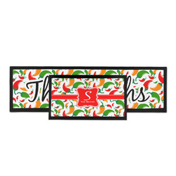 Colored Peppers Bar Mat (Personalized)
