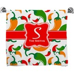 Colored Peppers Full Print Bath Towel (Personalized)