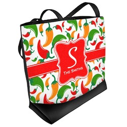 Colored Peppers Beach Tote Bag (Personalized)