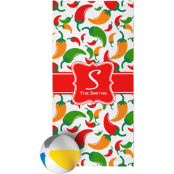 Colored Peppers Beach Towel (Personalized)