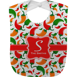 Colored Peppers Baby Bib (Personalized)