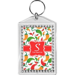 Colored Peppers Bling Keychain (Personalized)