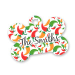 Colored Peppers Bone Shaped Dog ID Tag (Personalized)