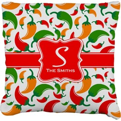 """Colored Peppers Faux-Linen Throw Pillow 26"""" (Personalized)"""