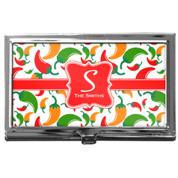 Colored Peppers Business Card Case