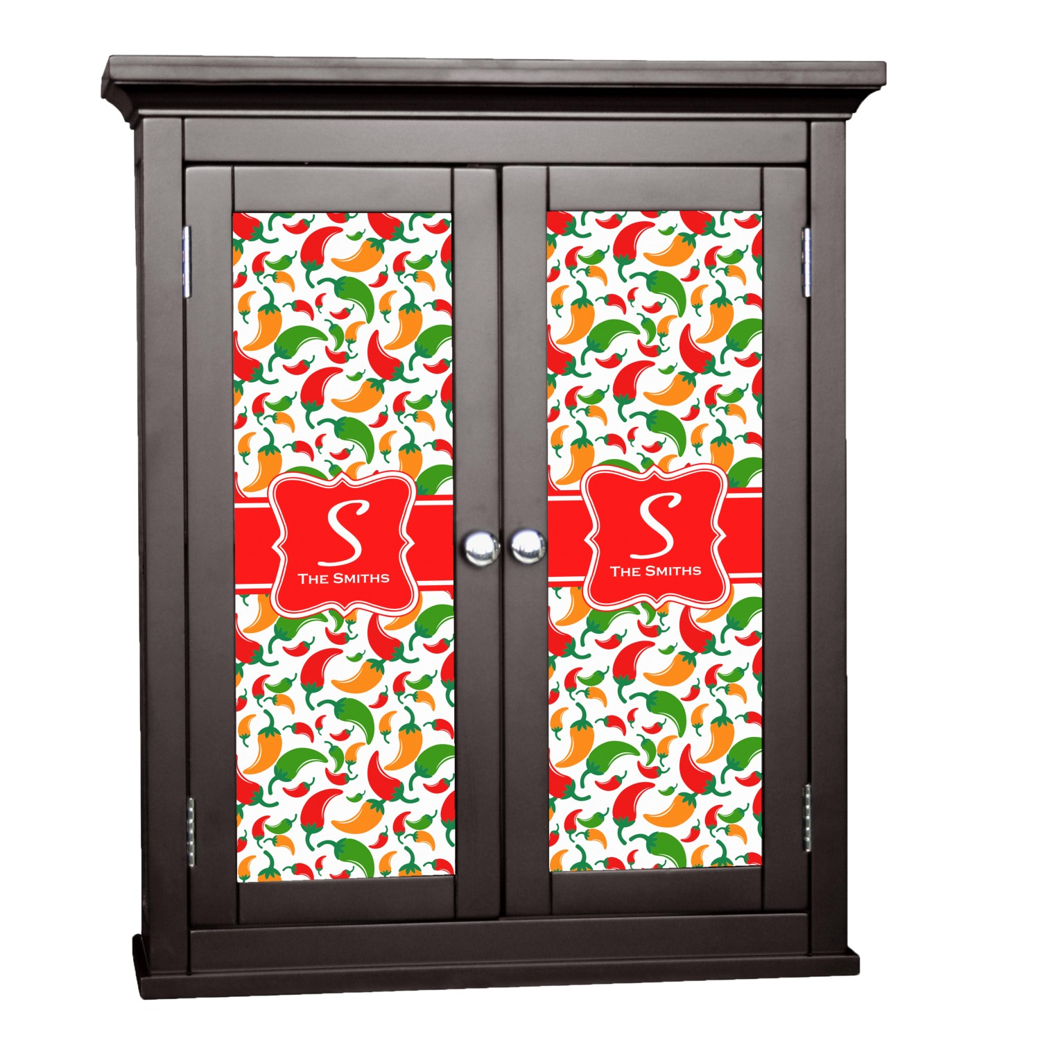 decorative stickers for kitchen cabinets colored peppers cabinet decal medium personalized 8590