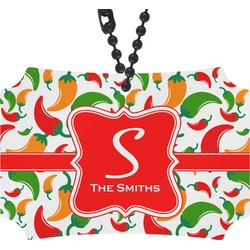 Colored Peppers Rear View Mirror Ornament (Personalized)