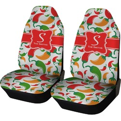 Colored Peppers Car Seat Covers (Set of Two) (Personalized)