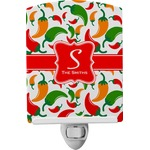 Colored Peppers Ceramic Night Light (Personalized)