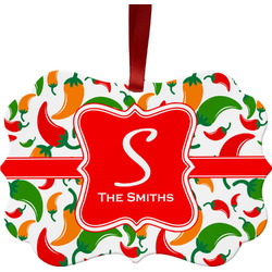 Colored Peppers Ornament (Personalized)
