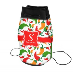 Colored Peppers Neoprene Drawstring Backpack (Personalized)